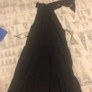 Little black dress with neck bow